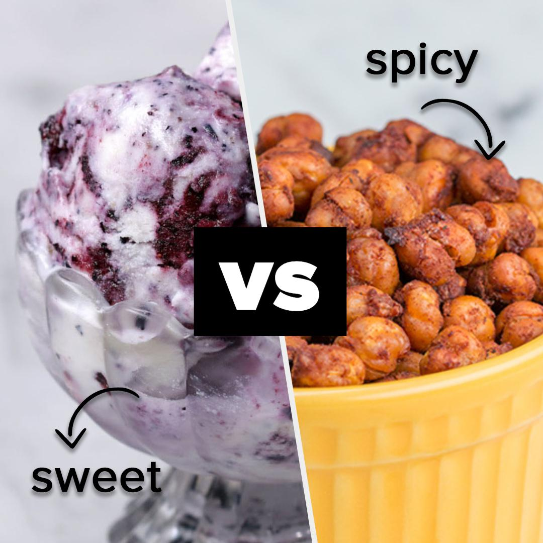https://tasty.co/compilation/extreme-challenge-sweet-vs-spicy-snacks