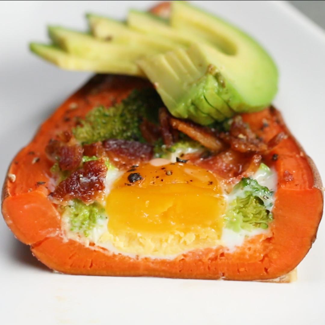 Ham And Avocado Scramble Recipe: Baked Avocado Eggs Recipe By Tasty