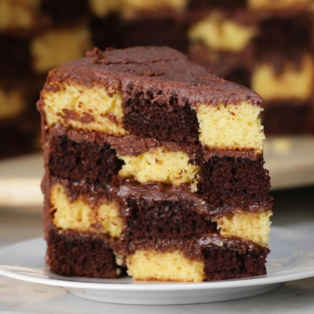 Checkerboard Cake Recipe By Tasty