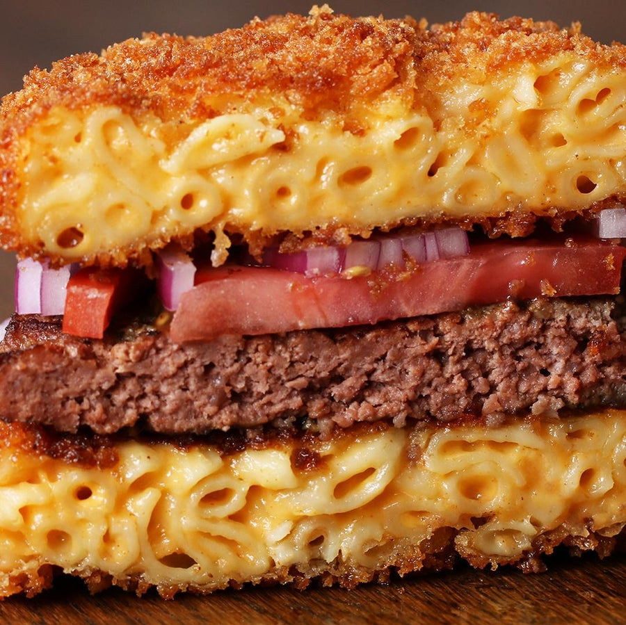Mac And Cheese Bun Burgers