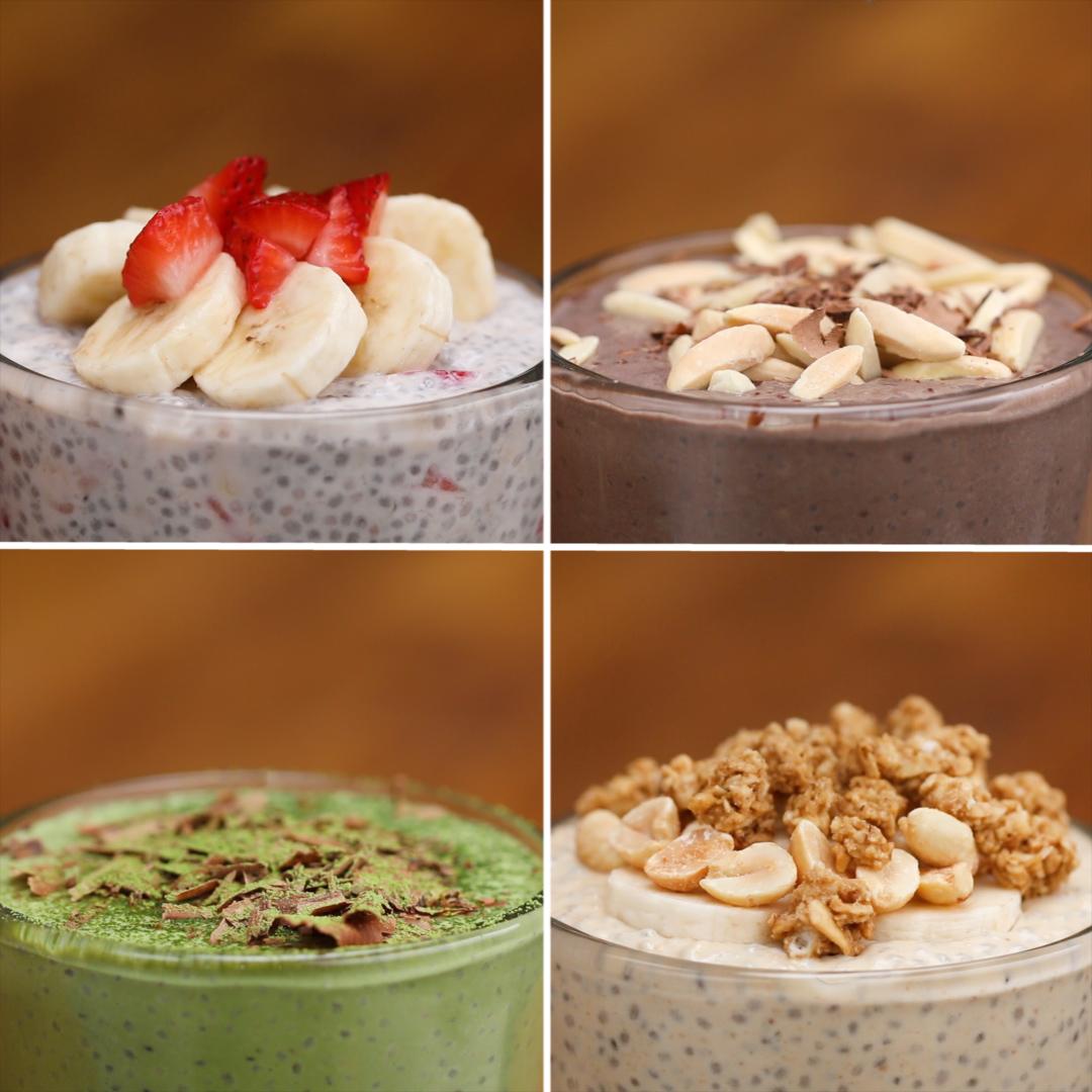 Chia Seed Pudding 4 Ways | Recipes