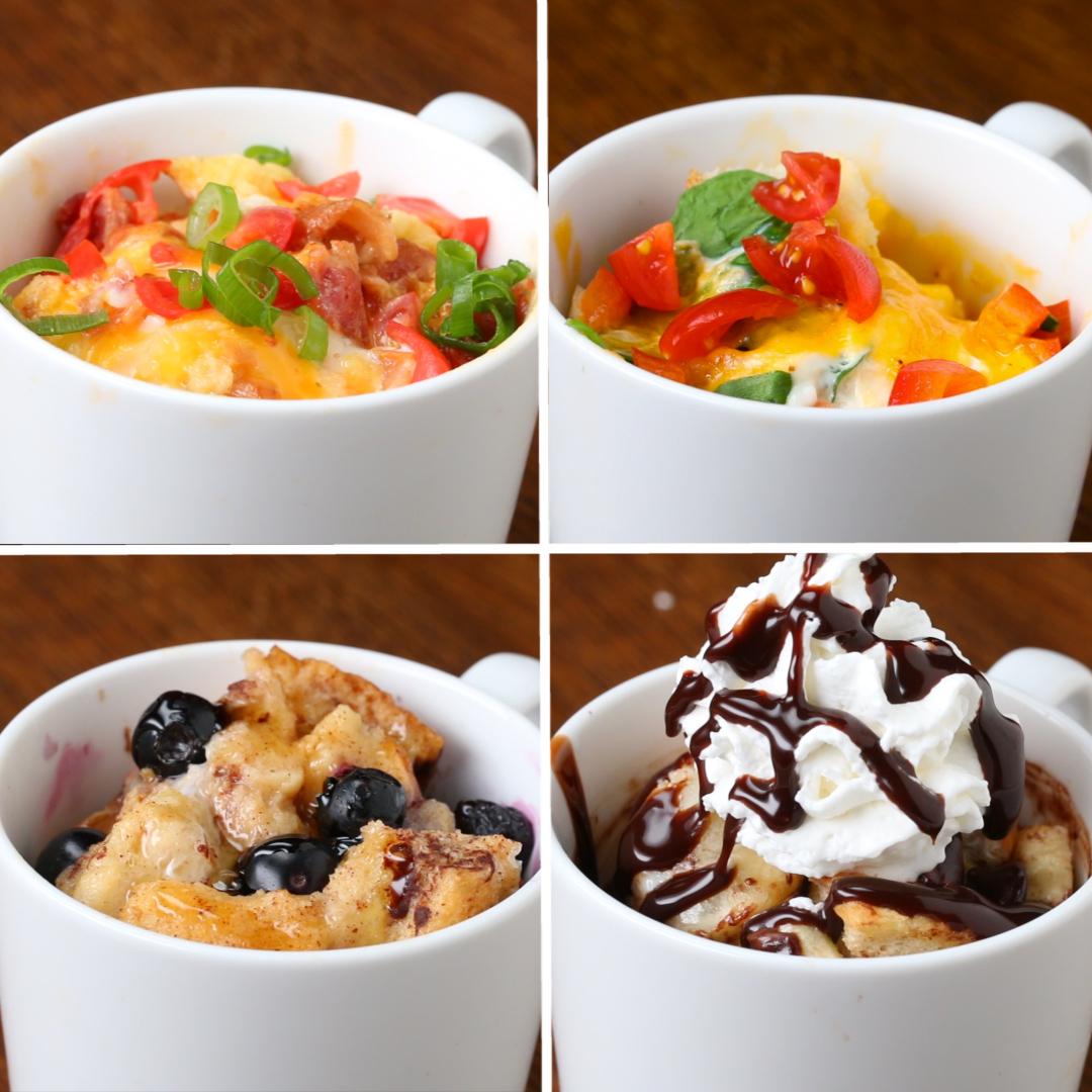 Fast Easy Breakfast In A Mug 4 Ways Recipes