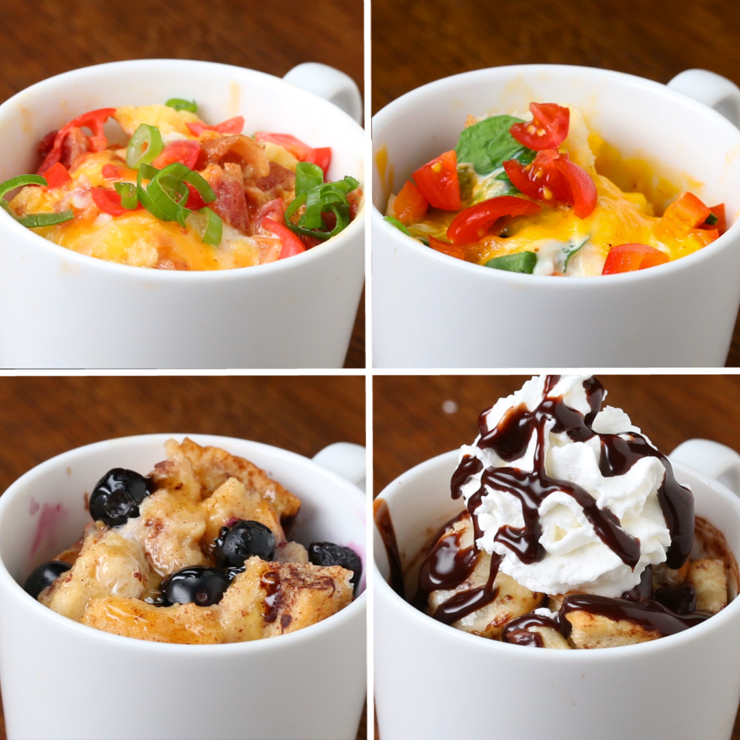 Fast Easy Breakfast In A Mug 4 Ways Recipes