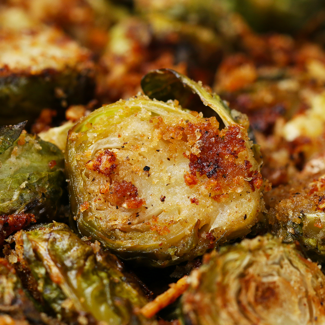 Roasted Garlic Parmesan Brussels Sprouts Recipe by Tasty