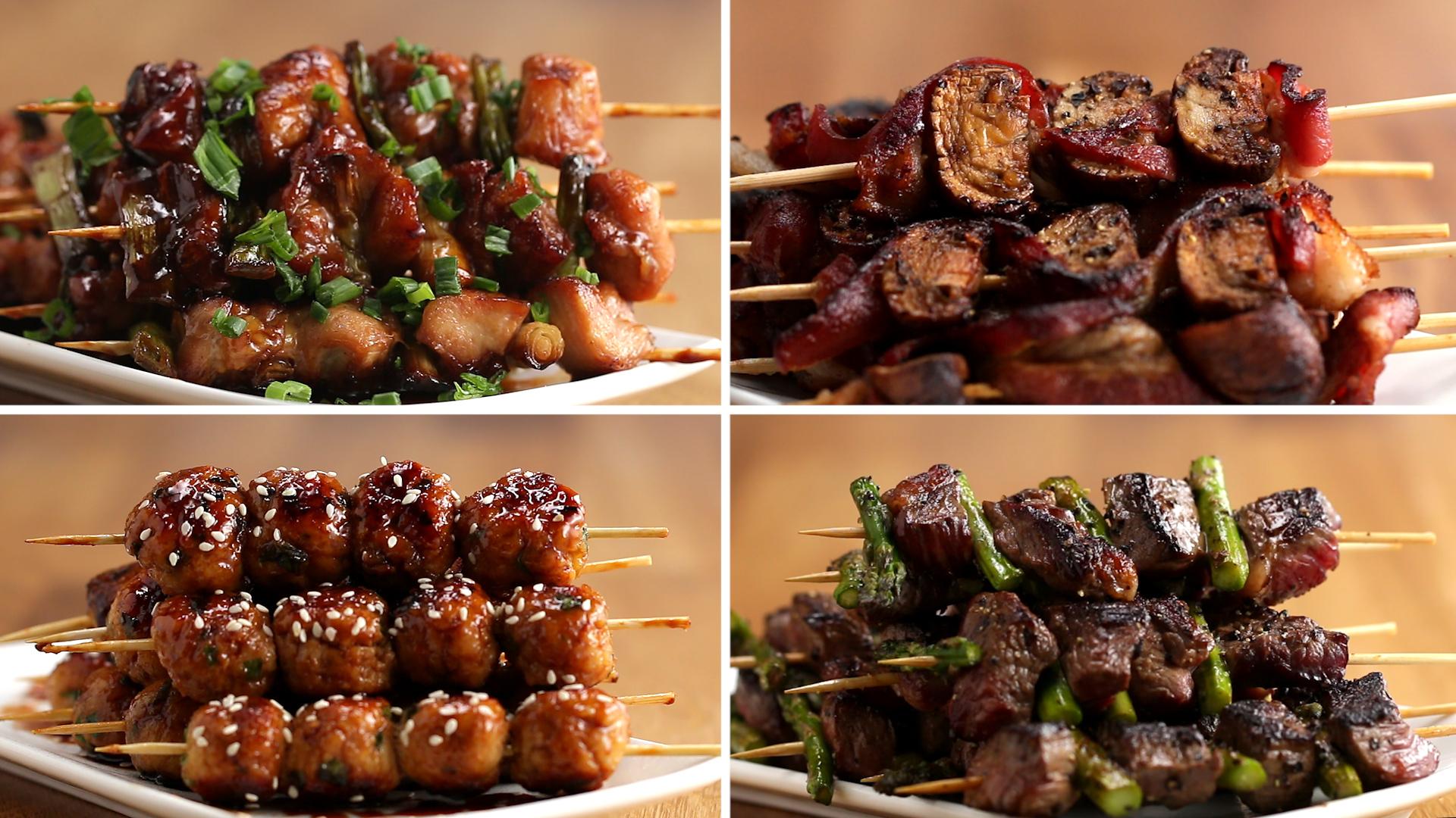 Japanese Grilled Skewers 4 Ways Kushiyaki Recipes