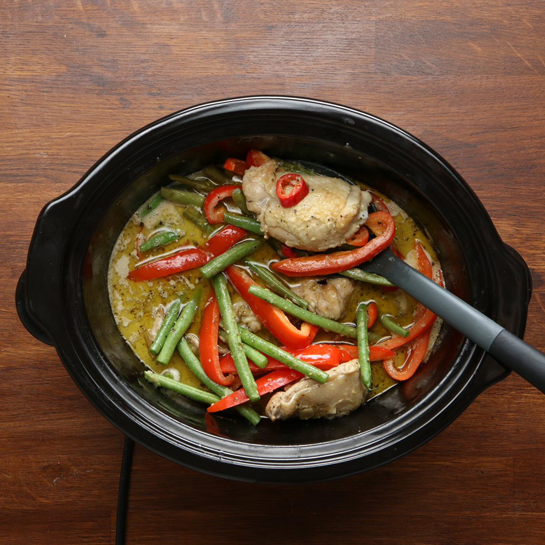 Slow Cooker Thai Green Curry Recipe By Tasty
