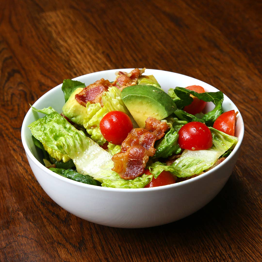 Bacon Lettuce Tomato And Avocado Salad Recipe By Tasty