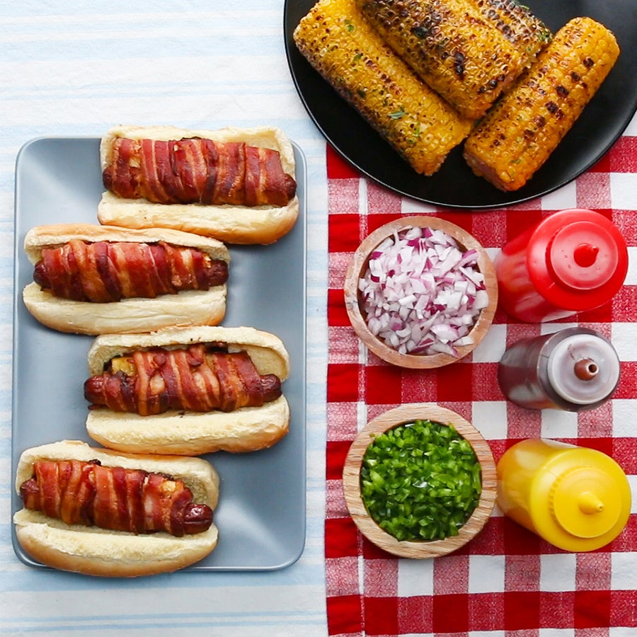Grilled Swineapple Dogs