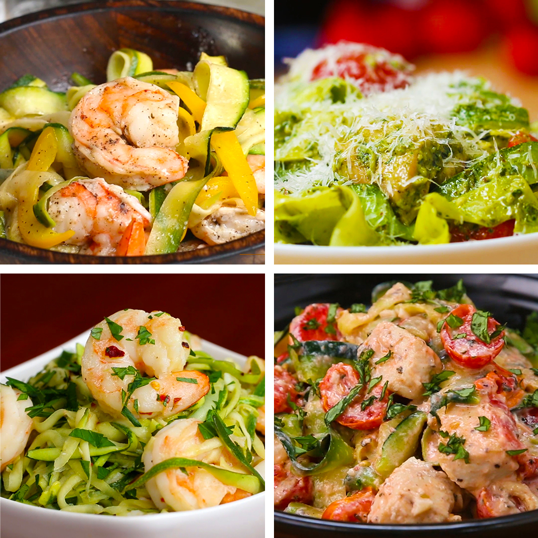Tasty food videos and recipes low carb zucchini pasta 4 ways forumfinder Choice Image