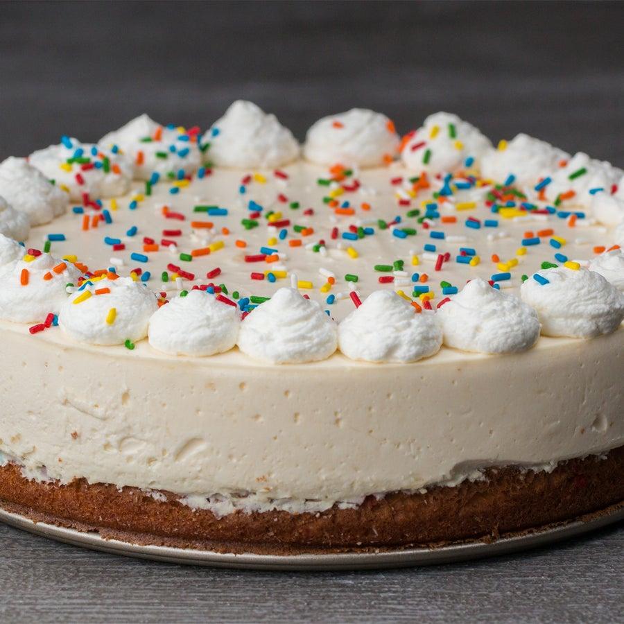 Birthday 'Box' Cake Bottom Cheesecake