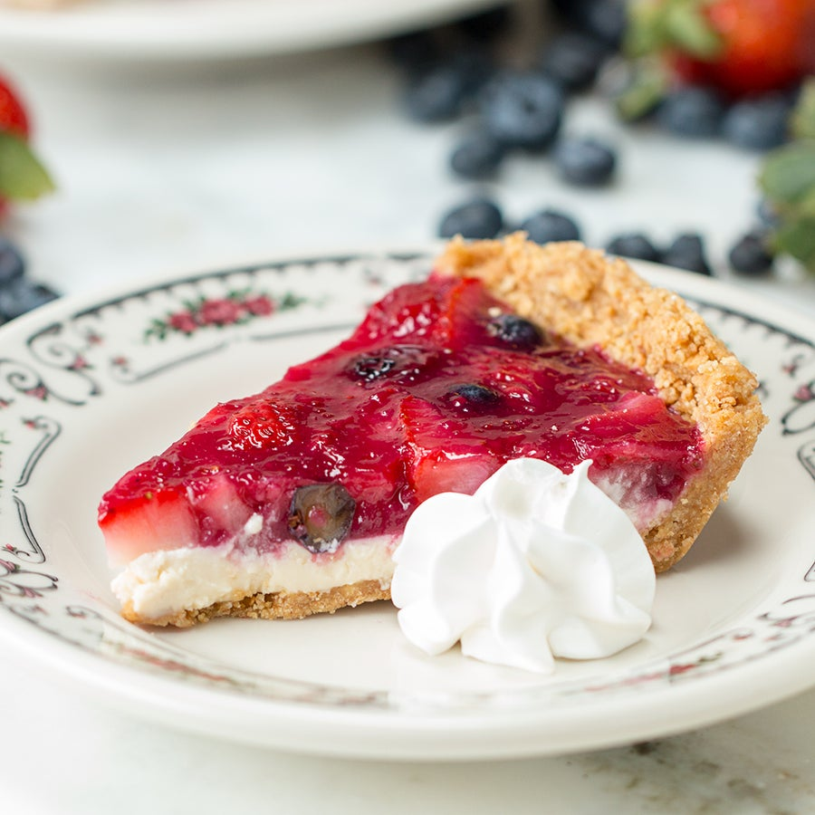 No-Bake Spring Berry Pie