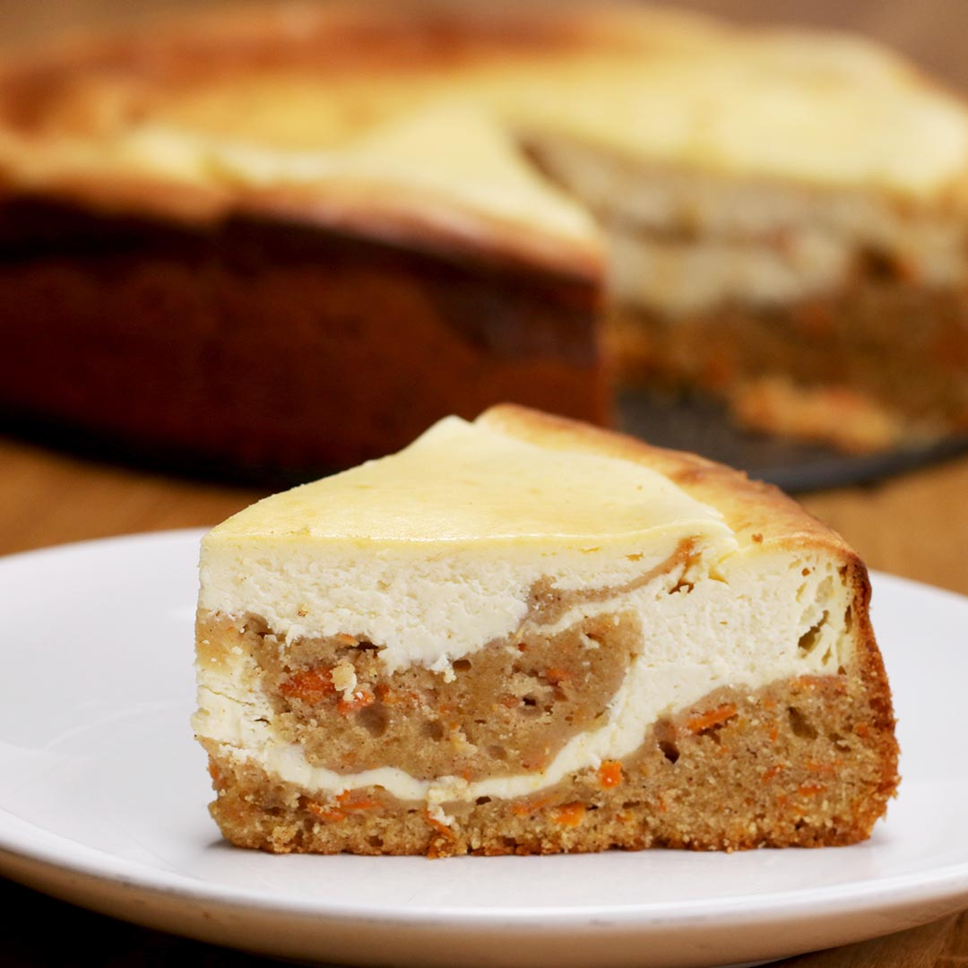 Carrot Cake Cheesecake Recipe By Tasty