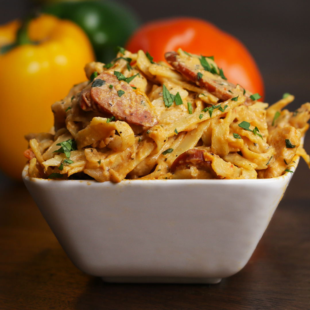 One-pot Cajun Fettuccine Alfredo Pasta Recipe by Tasty image