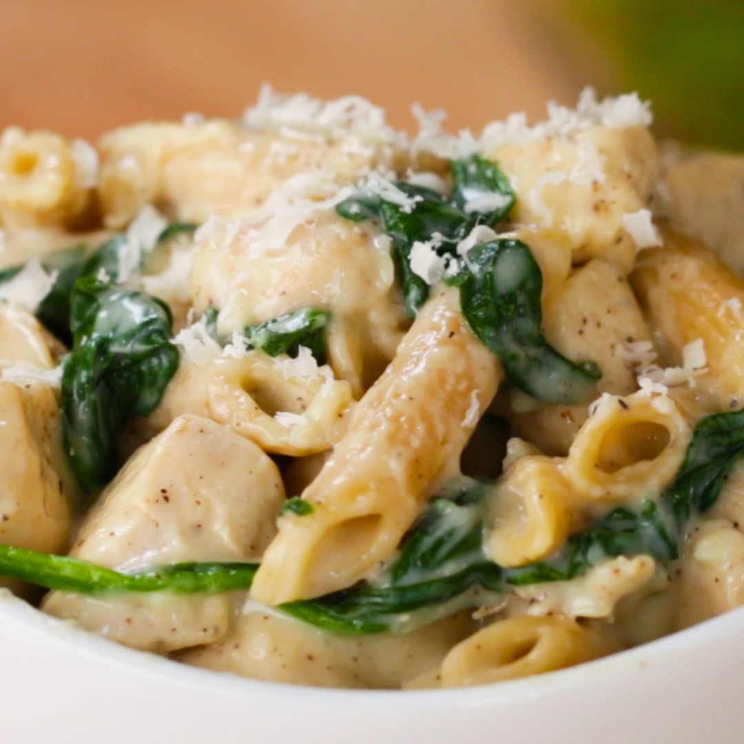 Healthier Chicken Alfredo Pasta Recipe By Tasty
