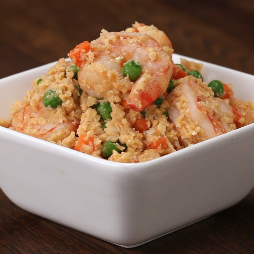 Chinese chicken fried rice recipe by tasty cauliflower shrimp fried rice ccuart Image collections
