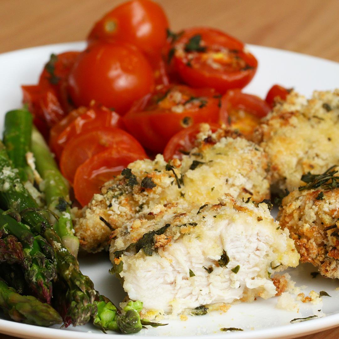Lemon Parmesan Chicken Traybake Recipe By Tasty