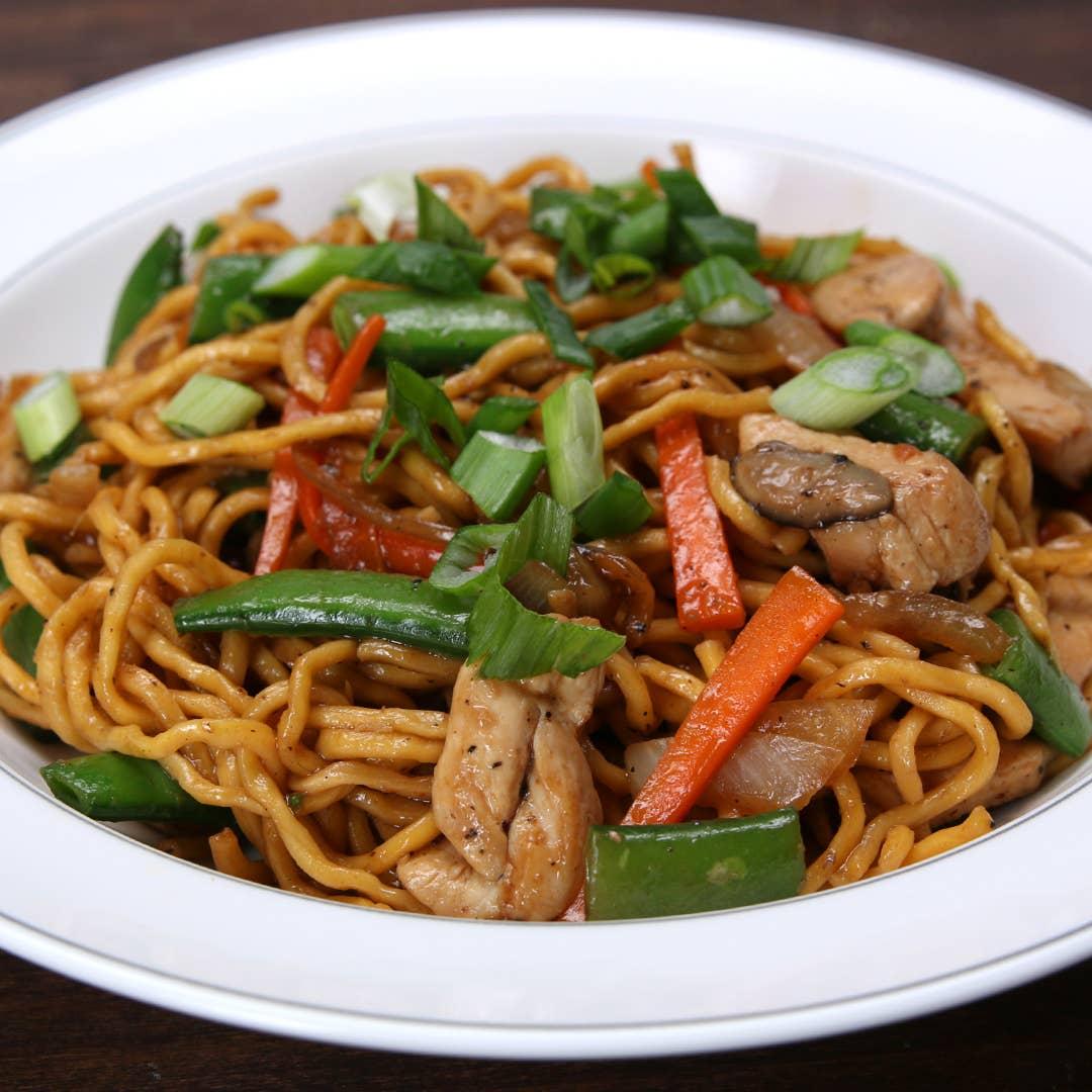 Chicken Lo Mein Recipe By Tasty