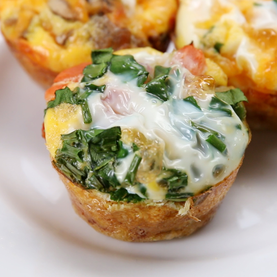 Easy Omelette Cups Recipe By Tasty