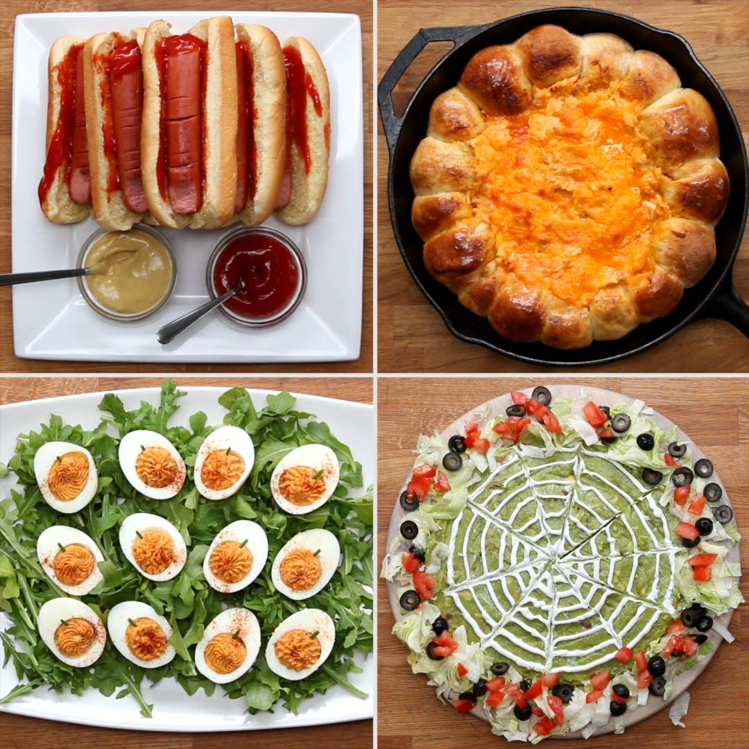 Easy Halloween Snacks.4 Easy Halloween Appetizers Recipes