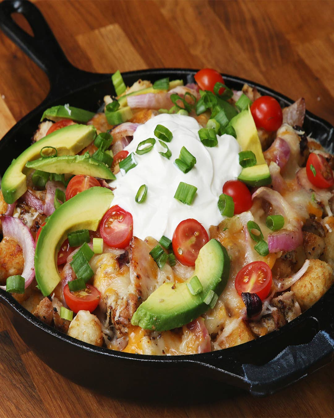 Honey Mustard Chicken Tater Tot Nachos Recipe By Tasty