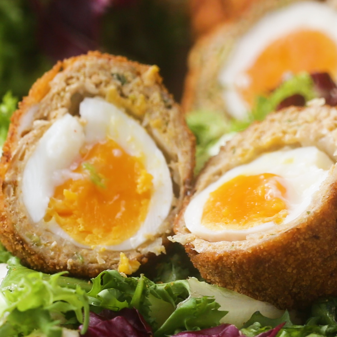 Sausage Wrapped Soft Boiled Egg Scotch Egg Recipe By Tasty
