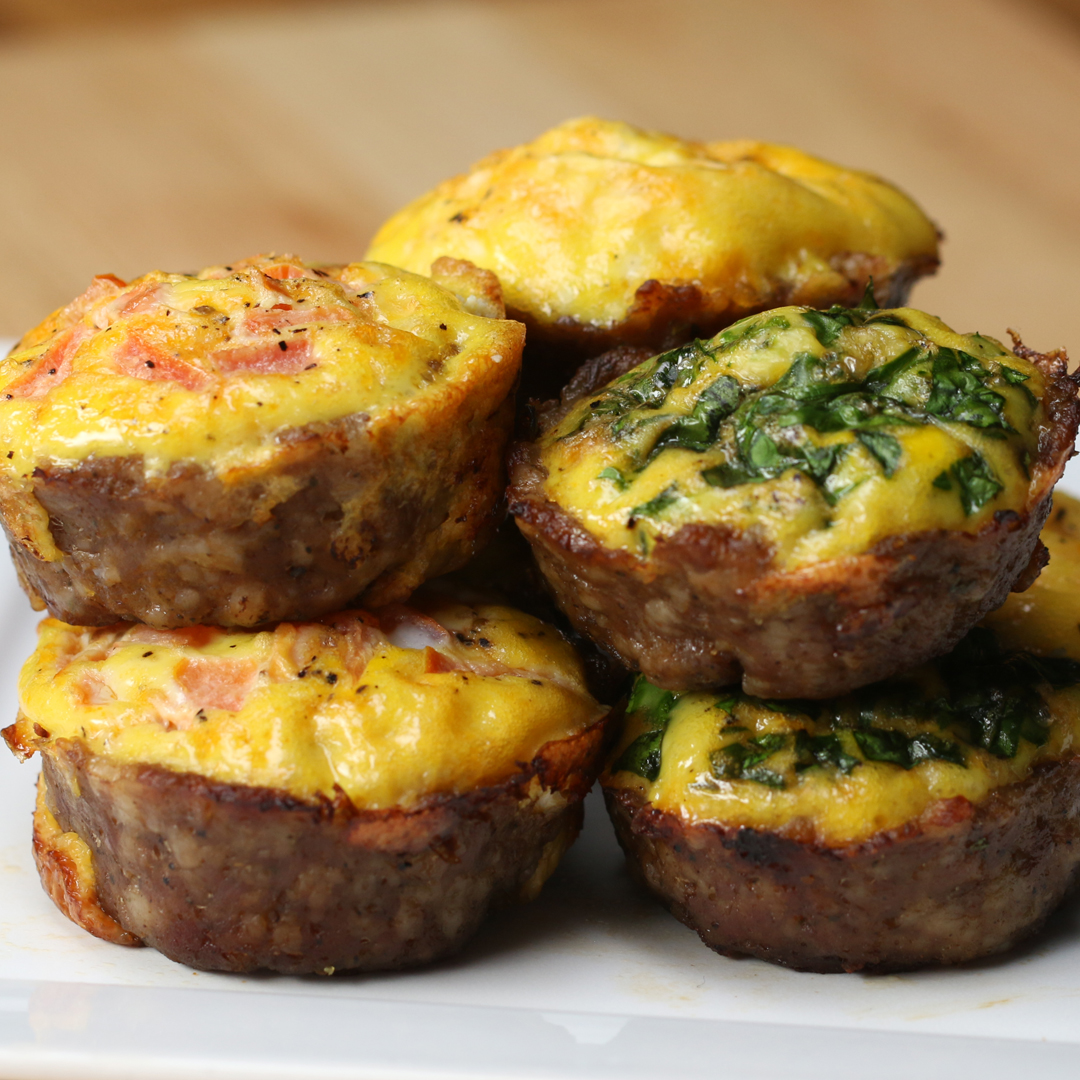 Sausage & Egg Breakfast Cups Recipe by Tasty