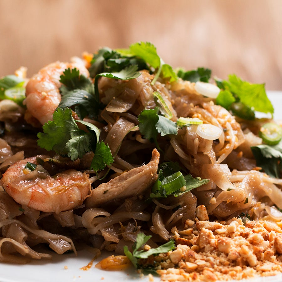 Thai-Style Chicken And Prawn Fried Noodles (Pad Thai)