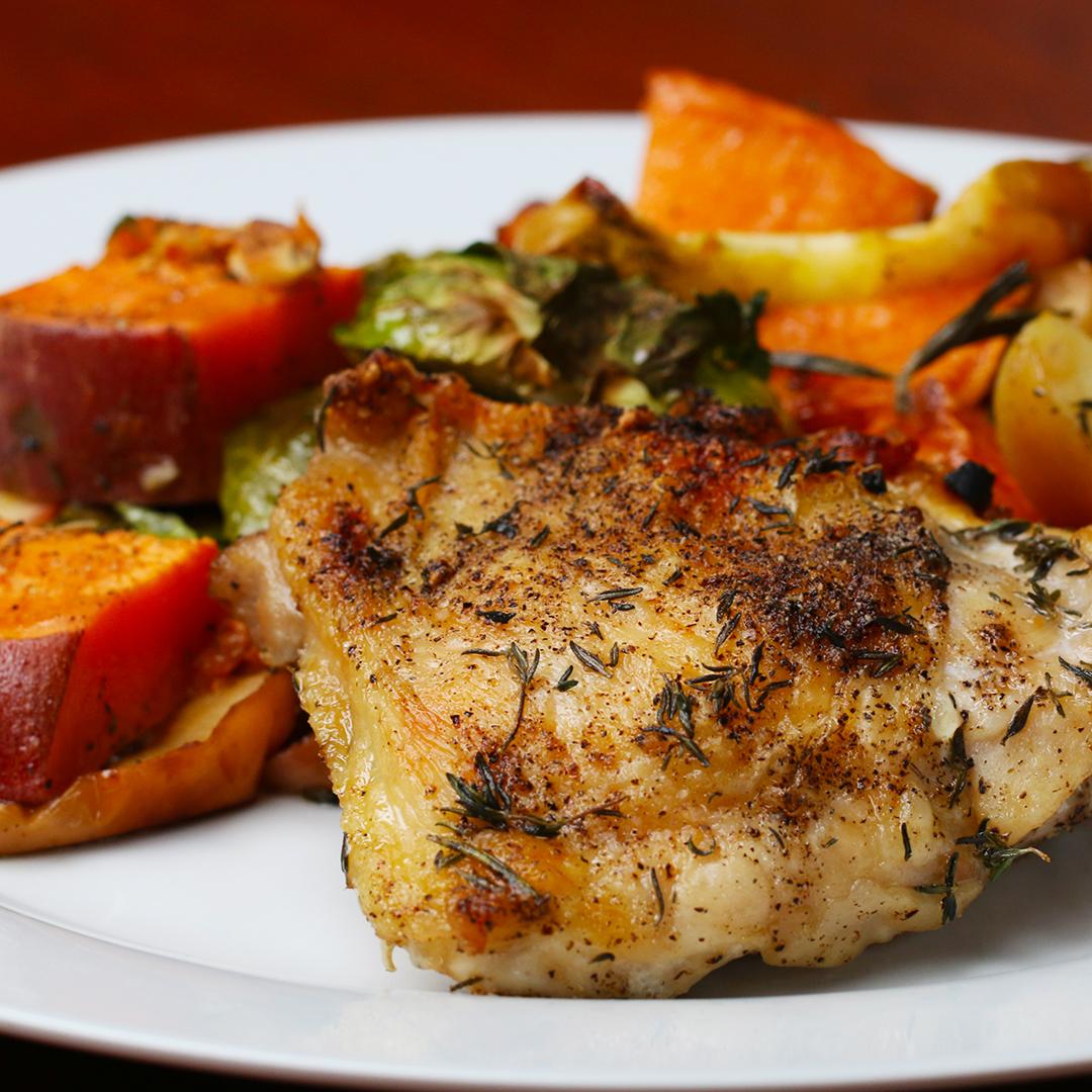 One Pan Autumn Chicken Roast Recipe By Tasty