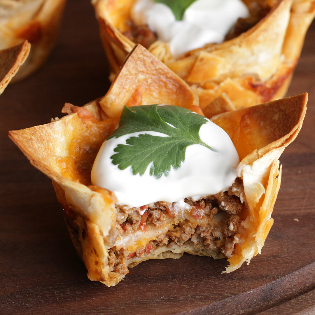 Crunchy Taco Cups Recipe by Tasty_image
