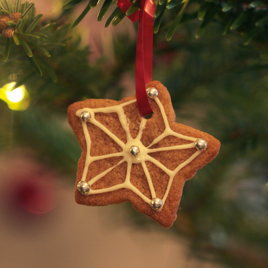Hanging Gingerbread Biscuits