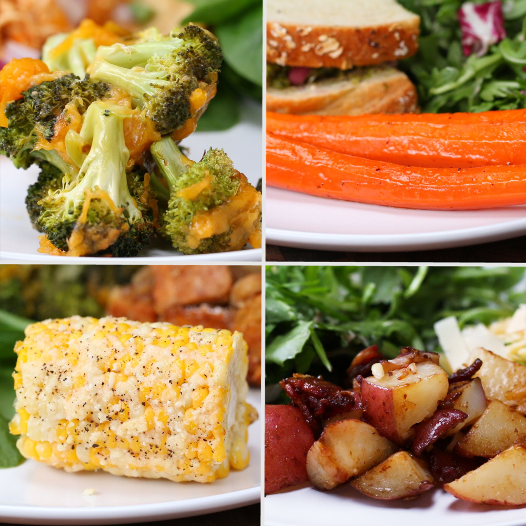 4 Easy 3-Ingredient Vegetable Side Dishes | Recipes