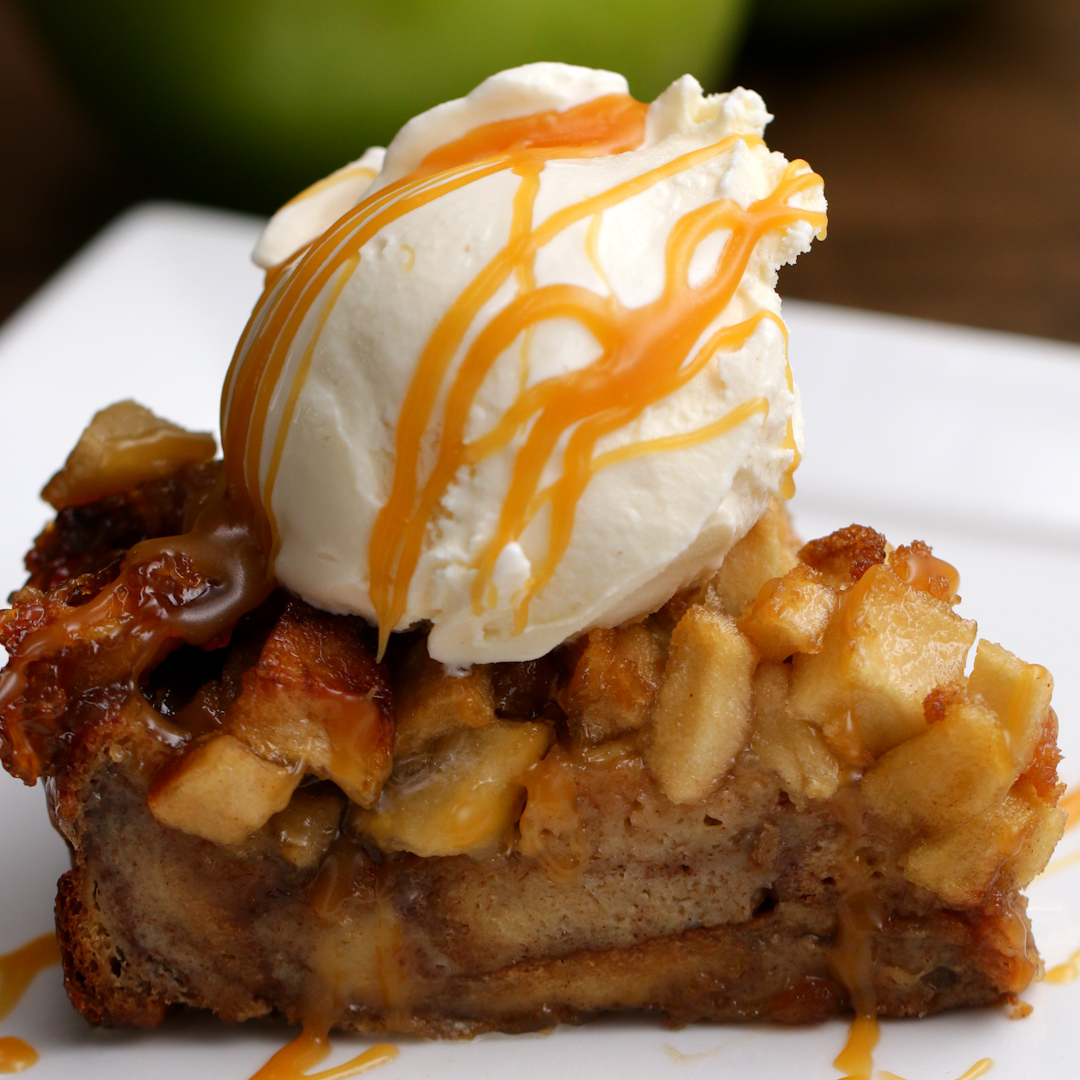 Apple Pie Bread Pudding Recipe By Tasty