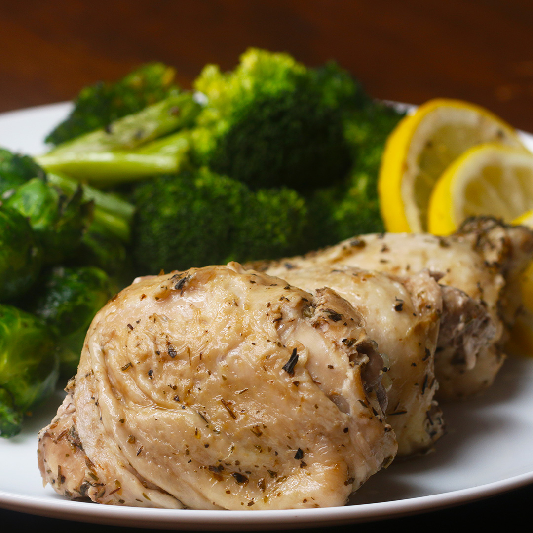 Slow Cooker Lemon Garlic Chicken Recipe By Tasty