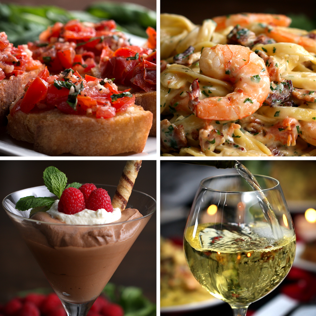 Garlic Shrimp Alfredo Dinner For Two Recipes