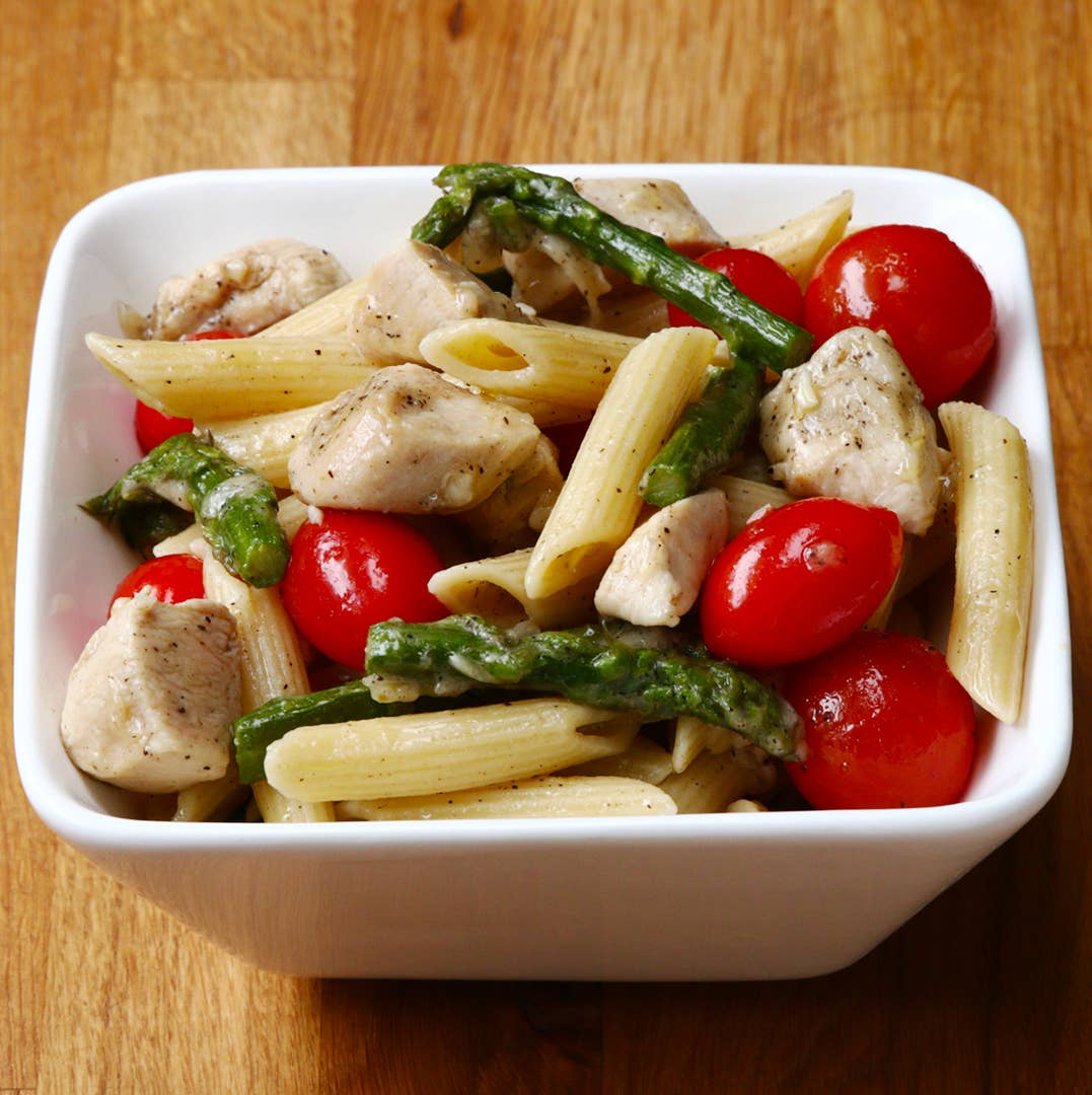 Chicken And Asparagus Pasta Recipe By Tasty