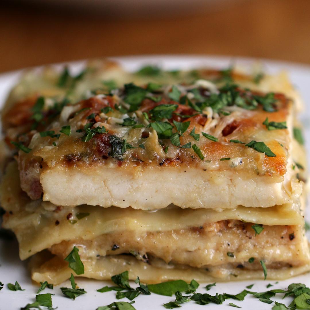 Chicken Alfredo Lasagna Recipe By Tasty