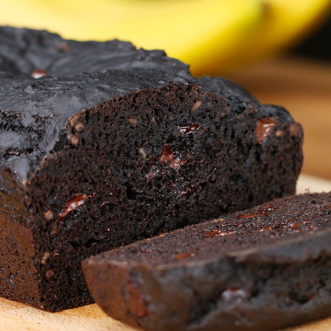 Dark Chocolate Banana Bread Recipe by Tasty image