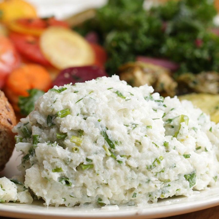Garlic and Herb Mashed Cauliflower