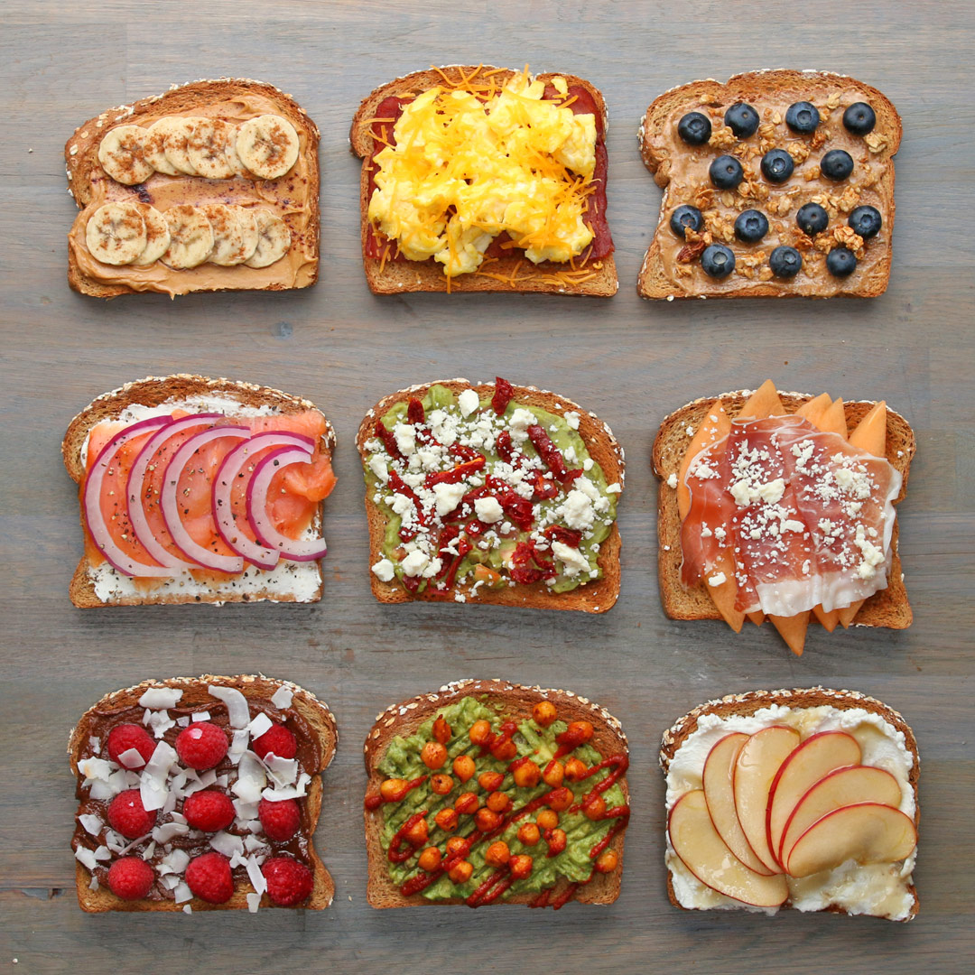 Breakfast Toasts 9 Ways Recipes
