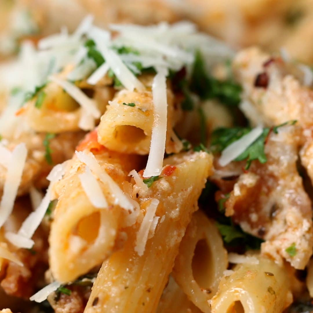 Creamy Chicken Penne Pasta Recipe By Tasty