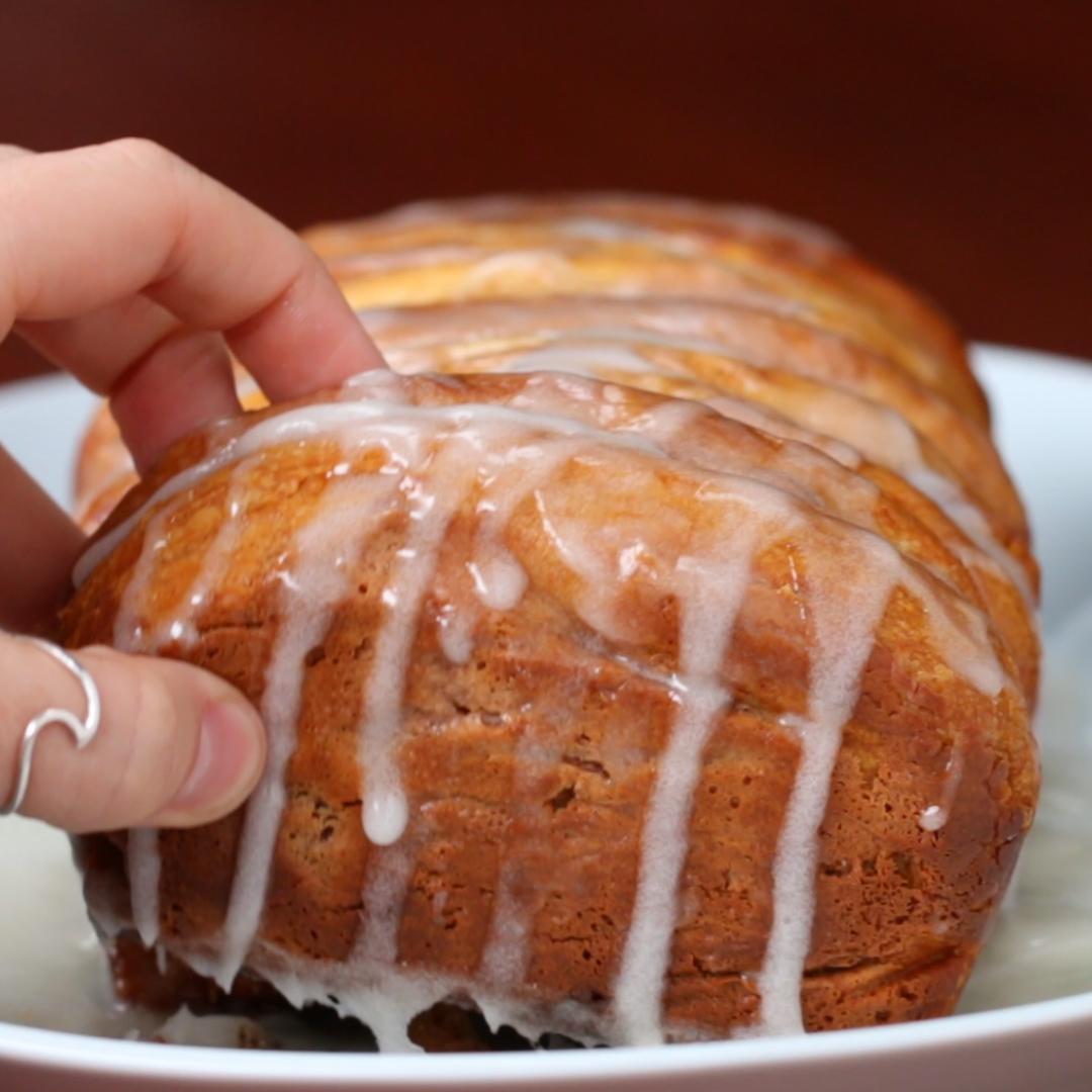 Cinnamon Pull Aparts: Cinnamon Roll Pull-Apart Bread Recipe By Tasty