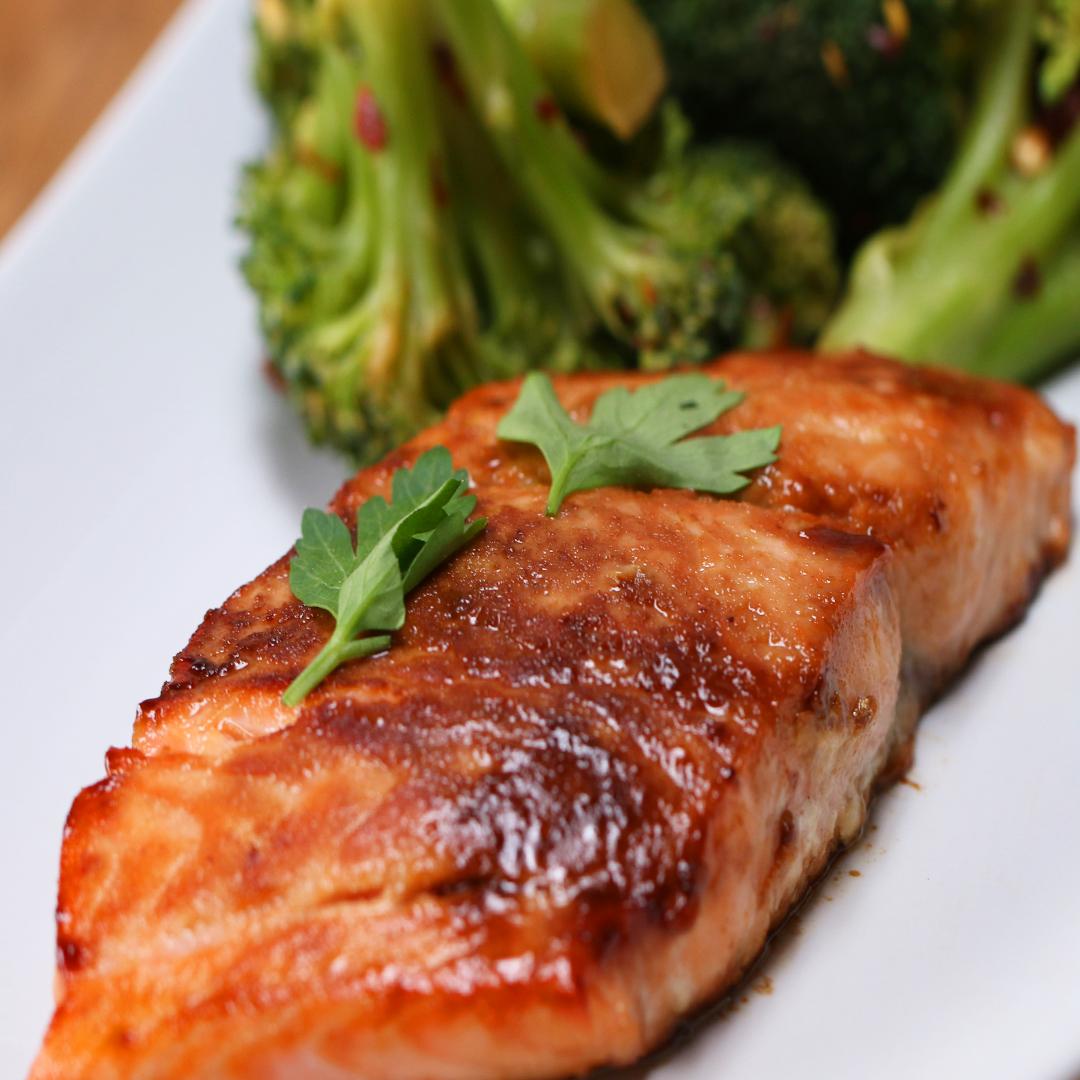 Maple Glazed Salmon Recipe By Tasty
