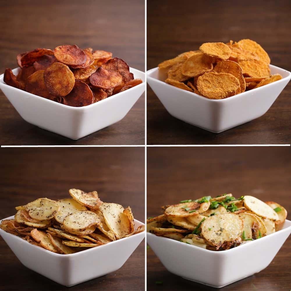 Baked Potato Chips 4 Ways