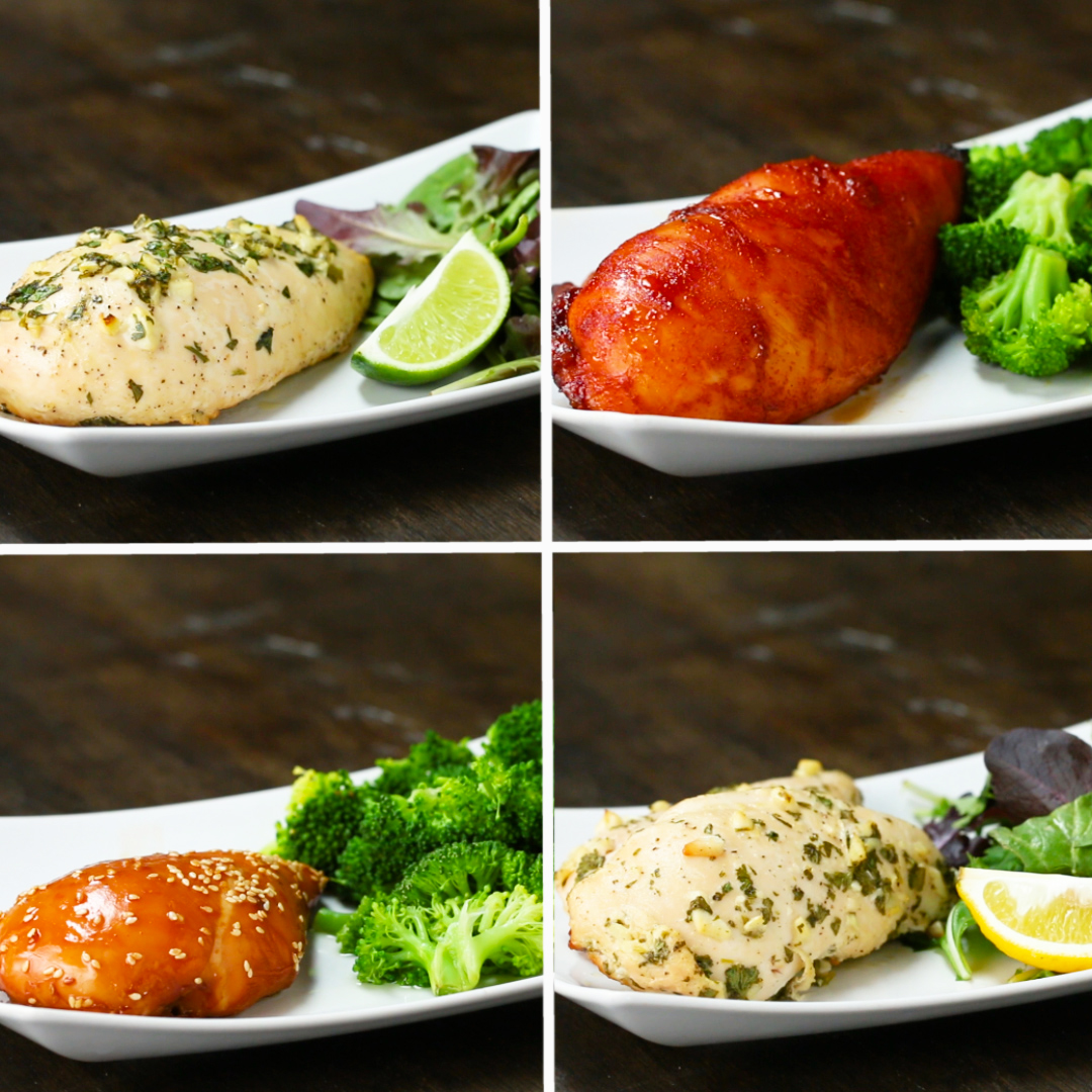 Freezer Pack-Marinated Chicken 4 Ways