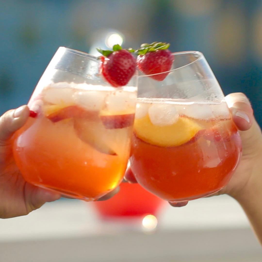 Strawberry Peach Sangria Recipe By Tasty