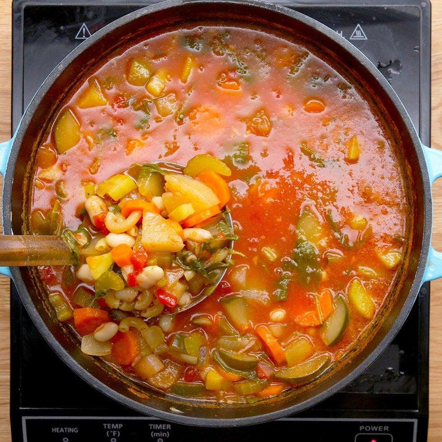 Summer Vegetable Minestrone Soup