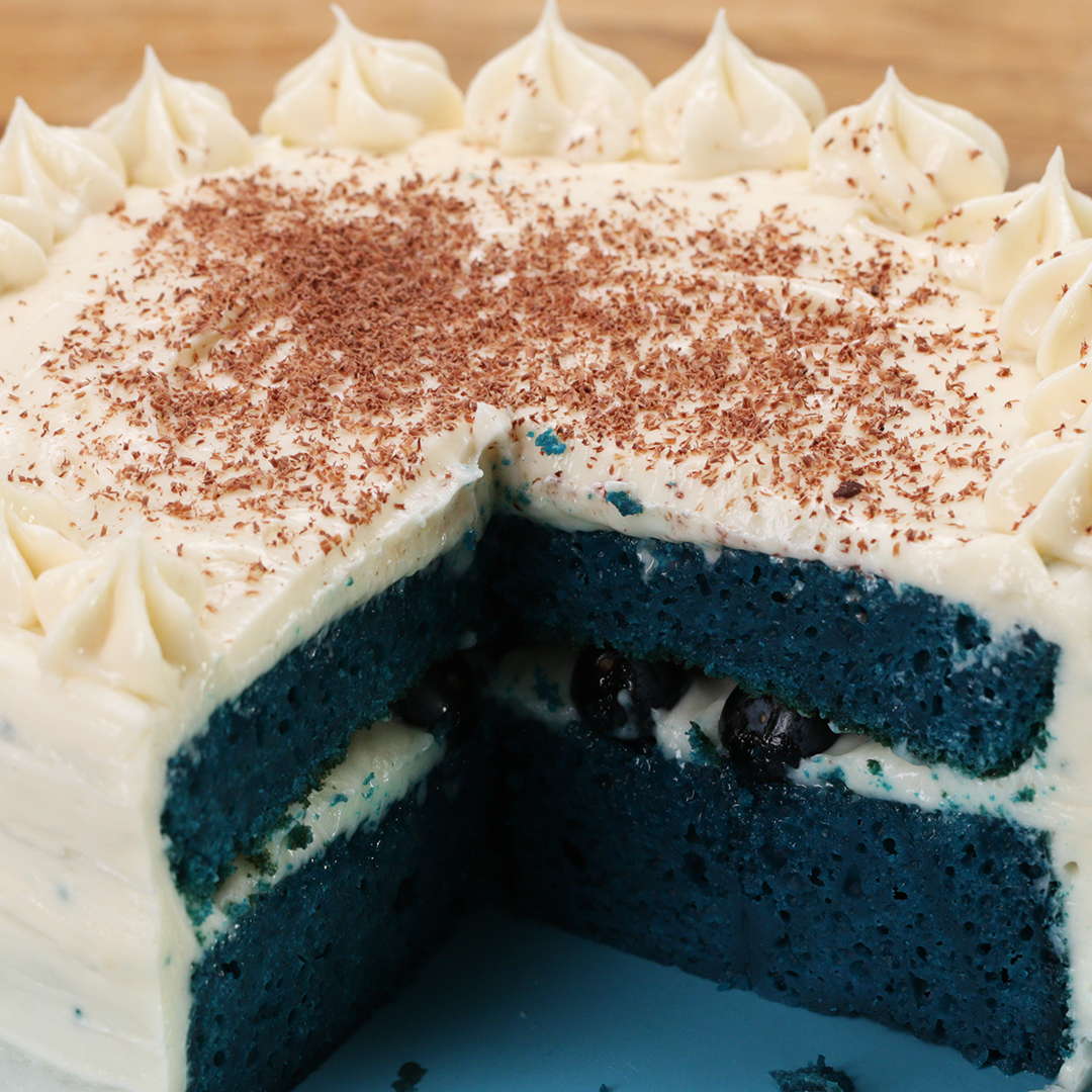 Galaxy Mirror Glazed Box Cake Recipe By Tasty