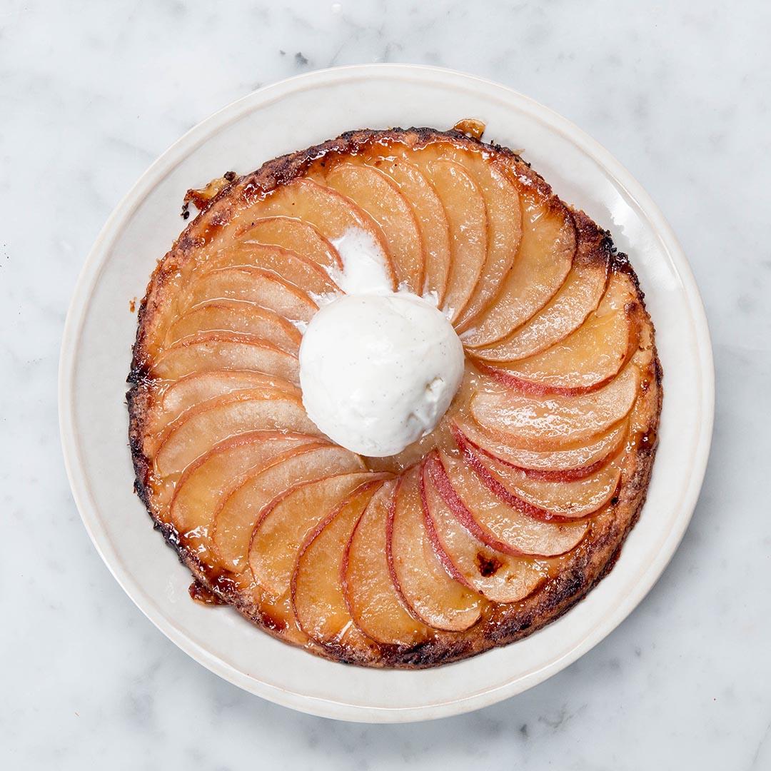 Tempura fried ice cream recipe by tasty sugar glazed apple tart ccuart Choice Image
