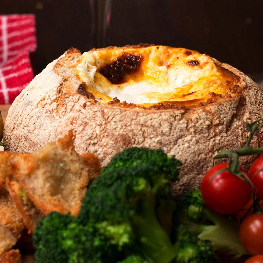 Cheese Fondue Bread Boat