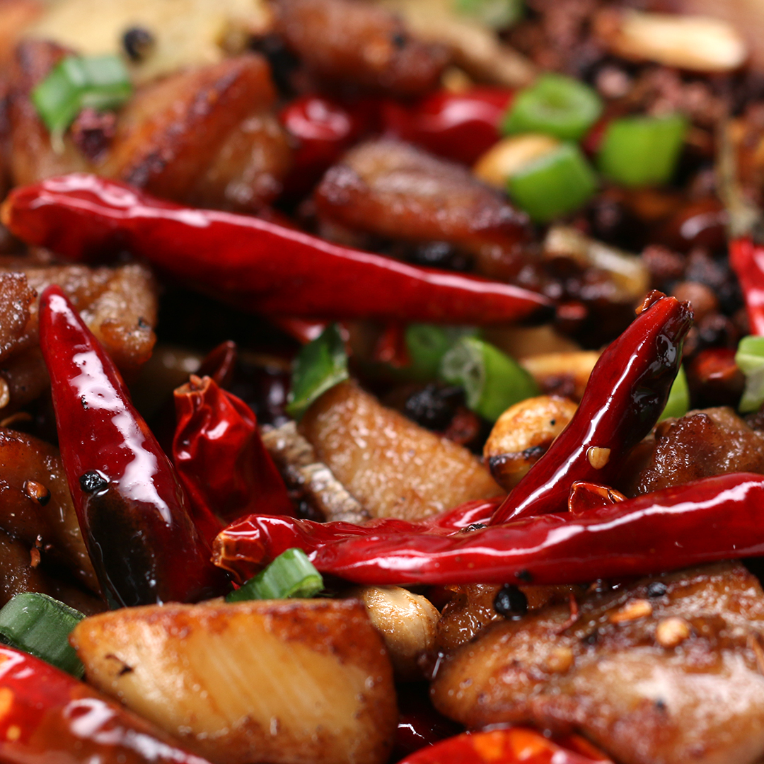 spicy szechuan chicken recipe by tasty